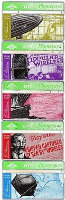 Bt Phonecards – 100 Years Of Radio (5 Different Phonecards)