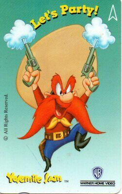 "Phonecards – Warner Home Video Yosemite Sam ""Let's Party!"" $5 Singapore P/Card"