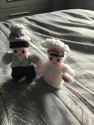 Hand Knitted Bride and Groom Wedding Gift