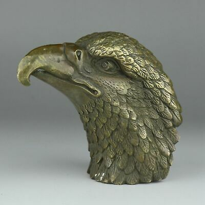 Collectable China Antique Bronze Hand-Carved Fierce Eagle Unique Decorate Statue