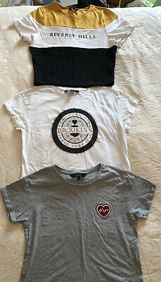 Girls bundle of New Look 915 generation cropped t shirts x3 age 14/15 years