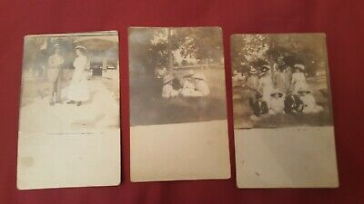 Vintage Family Photos Azo Post Cards Early 1900's