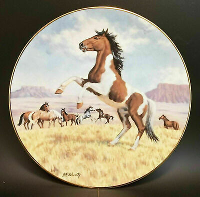 Purebred Horses The Mustang Collector Plate Donald Schwartz Porcelain Horse 1990