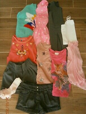 Girls summer clothes bundle age 9-10 years mixed items see photos (lot 6)