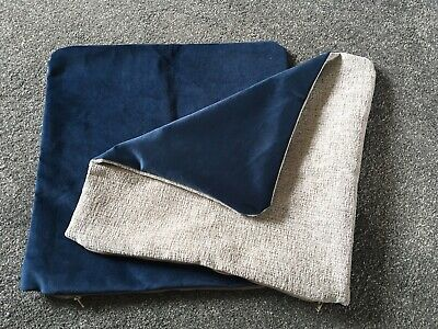 """2 X 18"""" Scatter Cushion Covers Dark Blue & Silver , Light Grey"""