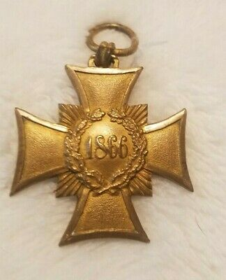 Vintage German Saxony Honor Memorial Cross for 1866 Medal  NICE!!