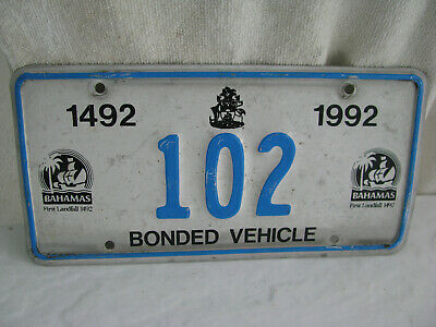 license plate- Bahamas- more than 3 years old