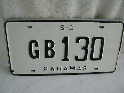 license plate- Bahamas - more than 3 years old