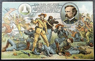 Montana Motion Picture Company Custer's Last Stand Original Illustrated Postcard