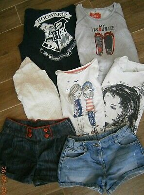 Girls summer clothes bundle age 10-11 years mixed items see photos (lot 10)