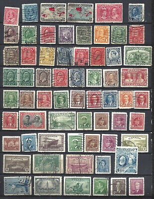 Canada Over 125 Different Older Used Stamps (See 2 Pictures) (Bs15309-1)
