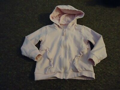 Matalan Hooded front zip long sleeve pink Top age: 3/4 years