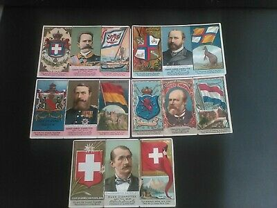 Five (5) Duke Coat Of Arms Large Cigarette Cards