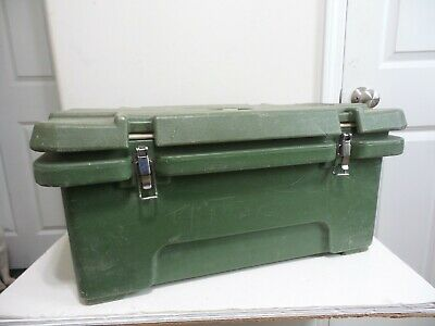 "Cambro Army USMC MKT Field Kitchen 180MPC Food Carrier 20"" x 12"" x 9"" GREEN USGI"