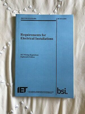 IET 18th Edition Wiring Regulation Book - BS 7671:2018 Electrical Regs BLUE