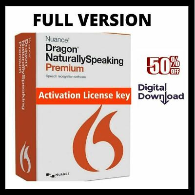 Nuance Dragon Naturally Speaking Premium 13✔️License Key✔️INSTANT DELIVERY