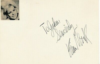 Kim Novak- Signed Index Card in Person