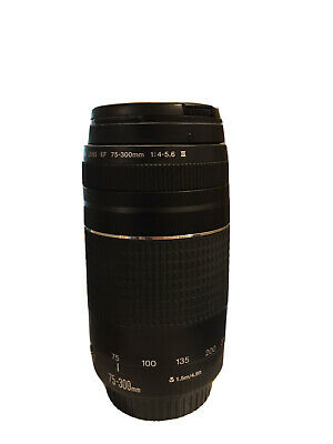 Great Condition Canon Zoom Lens EF 75-300mm 1:4-5.6 iii 58mm
