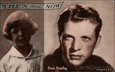 Actor Dan Dailey-Then and Now Postcard Vintage Post Card