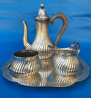 Lovely Sterling silver tea/coffee set 4 pieces.