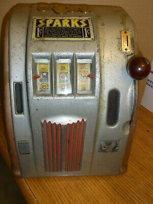 Vintage Working 1930'S? Sparks Token Slot Machine Or Gumball Trade Stimulator
