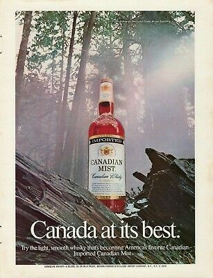 1974 Canadian Mist Whisky Vancouver Island British Columbia Vintage Print Ad