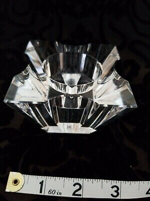 Vintage Oleg Cassini Decorative Crystal Votive Tea Light Candle Holder