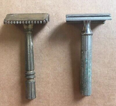 2 X Vintage Razors Gem Micromatic Comb And Gillette Trade Mark Made In USA SB8