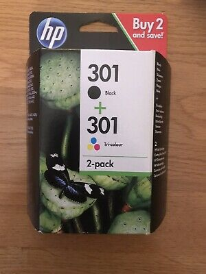 HP 301 Black and Tri-Colour Ink Cartridges. Unopened Twin Pack Out Of Date