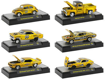 """Mooneyes"" Gold Release Set Of 6 Pcs 1/64 Diecast Models M2 Machines 32500-S81"