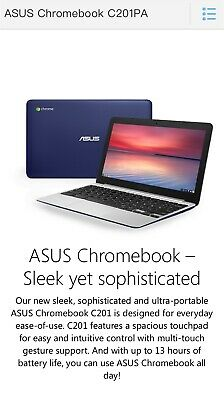Asus Chromebook C201PA 11.6in Navy Blue