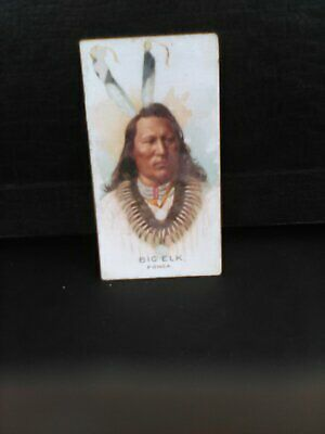 Allen & Ginter N2 Indian Chiefs Cigarette Card - BIG ELK  PONCA
