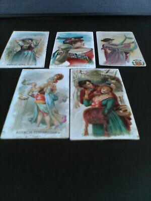 Five Duke Holidays Cigarette Cards