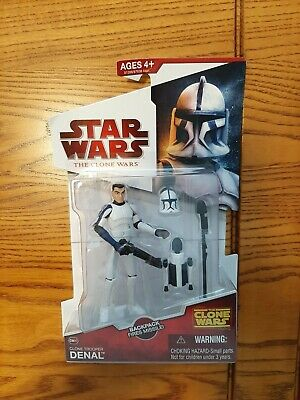 Hasbro Star Wars: The Clone Wars CW20 Clone Trooper Denal Backpack Fires Missile