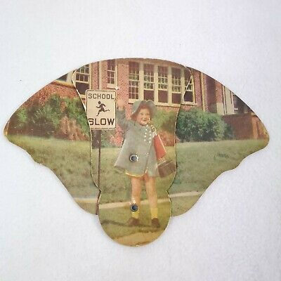Antique Funeral Home Hand Fan Paper Advertising Child Death 1930s William Lipman