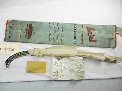 NOS 1954 Buick Door Edge Guards Complete With Clips and Instructions