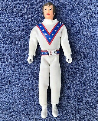 Evel Knievel Stunt Cycle Figure Proof Slinky Bright White Jumpsuit Belt & Helmet