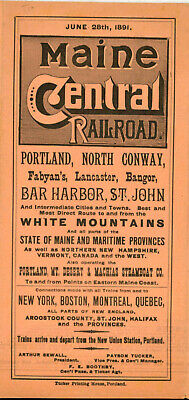 1891 Maine Central RR
