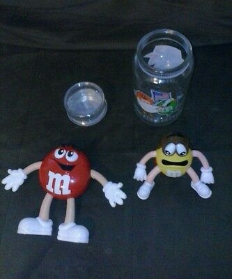 M&Ms Collectibles Lot Of 3 Vintage 1984 Olypics Candy Jar & 2 Toys Cool Rare! :O