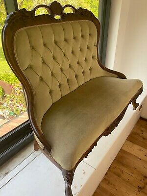 Beautiful Antique Sofa. Believed To Be Early Victorian Rosewood.