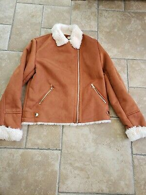 girls suede effect jacket river island age 11-12