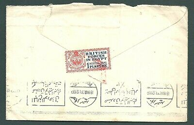 EGYPT 1933 British Forces Label on cover to England