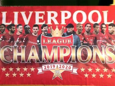 LIVERPOOL FC PREMIER LEAGUE  WINNERS FLAG 2020 5 X 3ft