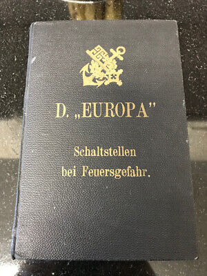 1938 SS Europa Steamship ~ Set of Technical guides and Inspection documents