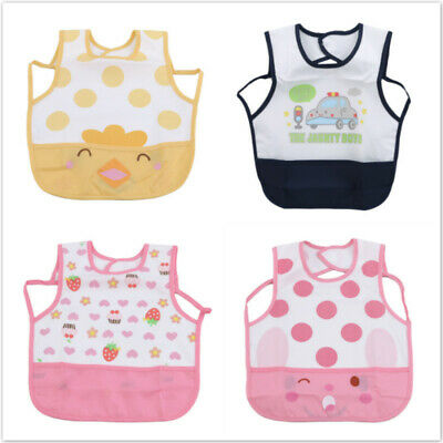 Baby Practical Waterproof Sleeveless Print Bibs Feeding Smock Bibs Apron 8C