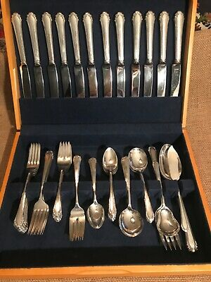 Gotham 1930's Cavalier Silver Plate & Stainless 64 Piece Lot (No Monogram)