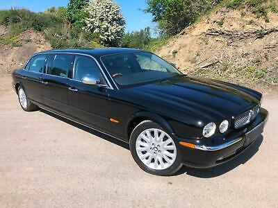 Jaguar XJ Limousine by Wilcox 4.2V8 black with grey leather & driver partition