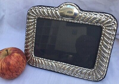 "Solid Sterling Silver Ornate Photo Frame 1997 7"" Long Birmingham Assay"