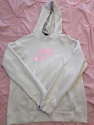 Girls White & Pink NIKE hoodie Age 12-13 Excellent Condition RRP £40