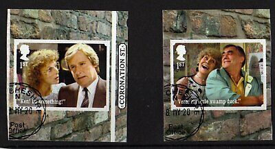 ££££££2020 - CORONATION STREET. Stamps from Booklet. VFU. CDS